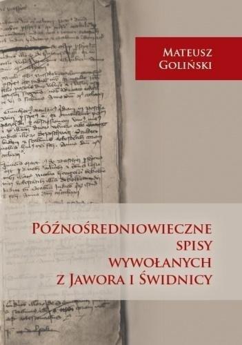 Późnośredniowieczne spisy wywołanych...