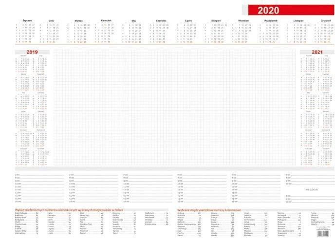 Kalendarz 2021 Biuwar B3 Mały (52 kart)