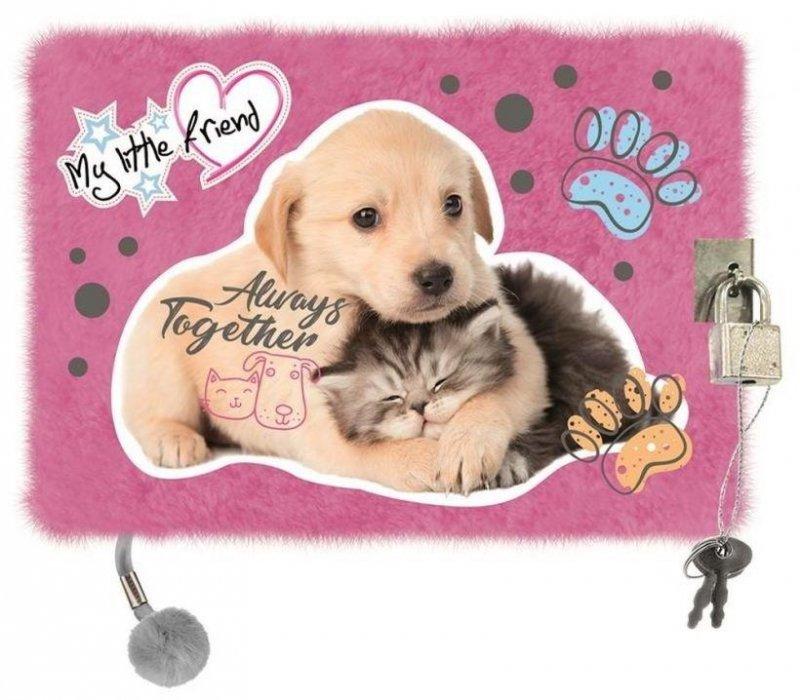 Pamiętnik z kłódką A5/96K Włochacz Cat&Dog