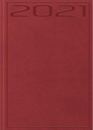 Terminarz 2021 B7 Print czerwony
