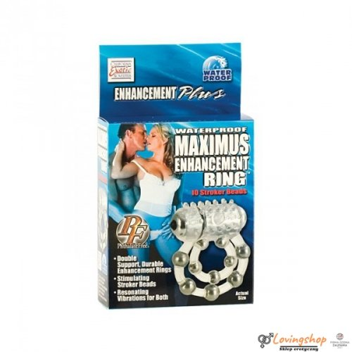 Pierścień-MAXIMUS RING 10 STROKE BEADS VIBR.