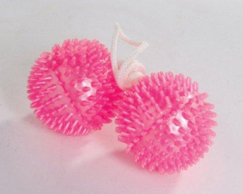 Kulki-Vibratone Soft Spikey Unisex Balls ~ Pink