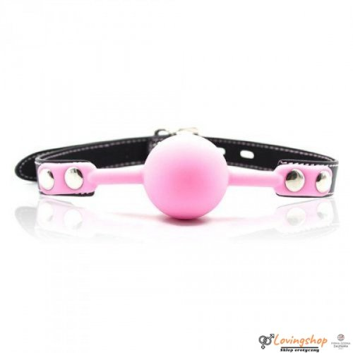 Knebel-Ball Gag + Block (rosa)