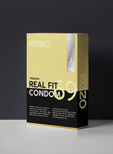 Prezerwatywy EGZO traditional condom REAL FIT 3pc