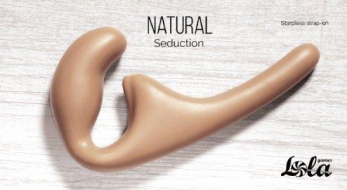 Strapless strap-on Natural Seduction Beige