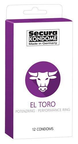 Prezerwatywy El Toro z pierścieniem erekcyjnym 12 szt. Secura