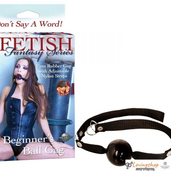 "Knebel-FF BEGINNER""S BALL GAG - BLACK"