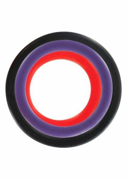 Pierścień-TRIPLE RINGS MULTICOLOR 3PCS