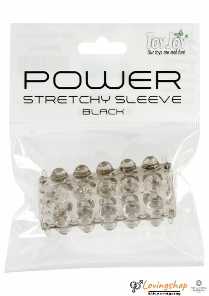 Stymulator-TOYJOY POWER STRETCHY SLEEVE SMOKE