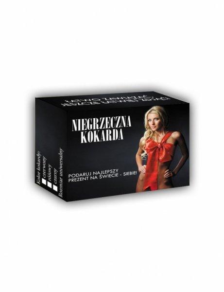 Bielizna-PREZENTYNA - Niegrzeczna Kokarda Czerwona