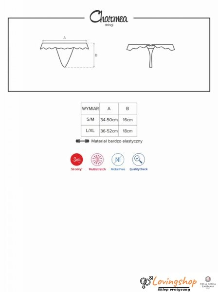 Bielizna-Charmea stringi L/XL