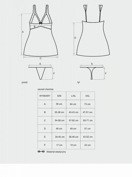 Bielizna-Secred koszulka i stringi L/XL