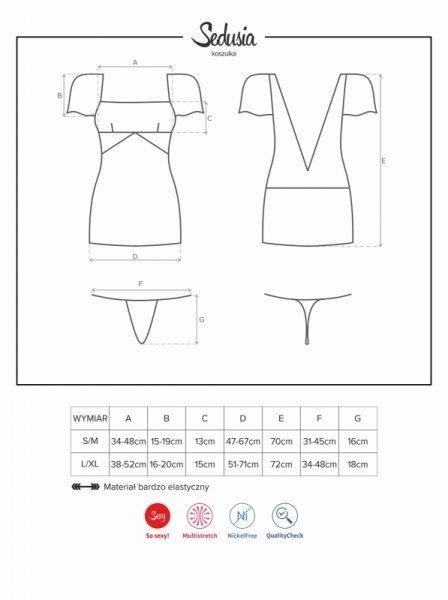 Bielizna-Sedusia koszulka i stringi L/XL