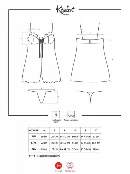 Bielizna-Kisselent babydoll i stringi L/XL