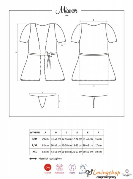 Bielizna-Miamor szlafrok i stringi L/XL