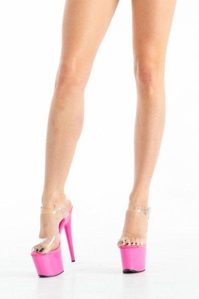 Buty- różowe platformy 37