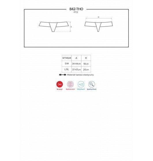 842-THO-5 stringi różowe L/XL