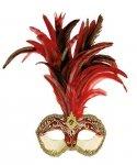 Maska wenecka - Colombina Strucco Piume V