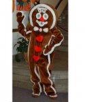 Strój chodzącej maskotki - Świąteczny Pierniczek Serduszko