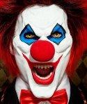 Maska klejona na twarzy - Horror KlaunII  Deluxe