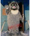 Strój chodzącej maskotki - Kot Puchacz Deluxe