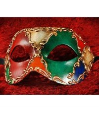 Maska wenecka - Colombina Arlechino