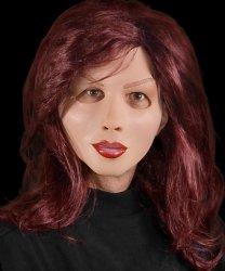 Maska lateksowa z peruką - Diva Ruda