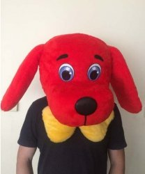 Głowa chodzącej maskotki - Pies z kokardą
