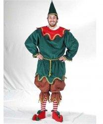 Profesjonalny strój pomocnika Świętego Mikołaja - Elf Deluxe 3