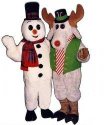 Dwa stroje chodzących maskotek - Bałwan & Rudolf