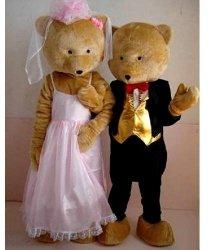 Strój reklamowy - Para Miśków na ślubnym kobiercu