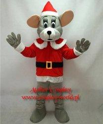 Strój chodzącej maskotki - Bożonarodzeniowa Mysz