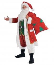 Profesjonalny strój Świętego Mikołaja - Św. Mikołaj Deluxe z workiem na prezenty