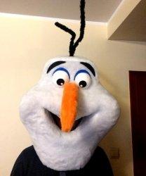 Głowa chodzącej maskotki - Bałwan 2