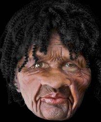 Maska lateksowa z peruką - Jamajczyk