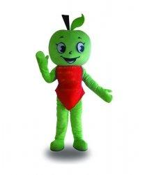 Strój chodzącej maskotki - Chłopiec Zielone Jabłuszko
