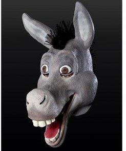 Maska lateksowa - Osioł z filmu Shrek