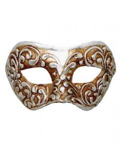 Maska wenecka - Colombina Strucco V