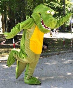 Strój reklamowy - Krokodyl