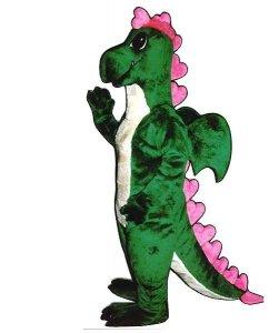 Strój chodzącej maskotki - Dinozaur Pink Heart