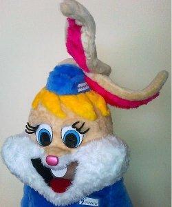 Głowa chodzącej maskotki - Pani Zającowa