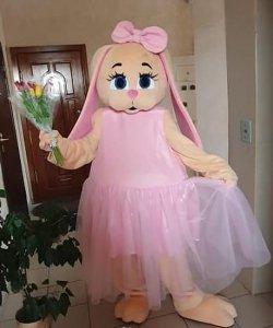 Strój chodzącej maskotki - Pink Bunny