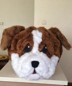 Głowa chodzącej maskotki - Pies 4
