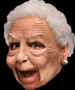 Maska lateksowa - Babcia Deluxe