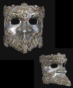 Maska wenecka - Bauta Macram S