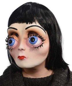 Maska lateksowa z peruką - Zauroczona