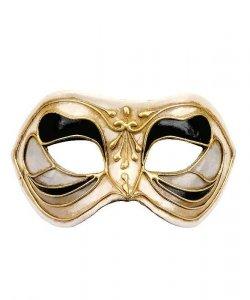 Maska wenecka - Colombina Monica Nero