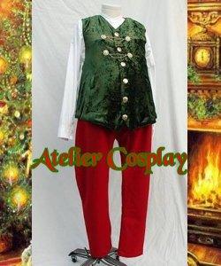 Kamizelka, Spodnie i Koszula Świętego Mikołaja - Vintage I