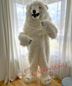 Chodząca żywa duża maskotka - Miś Polarny Zakopane