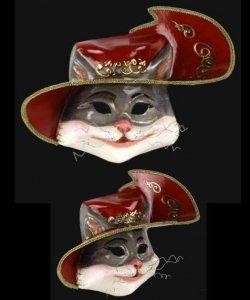 Maska wenecka - Gatto con gli Stivali Red